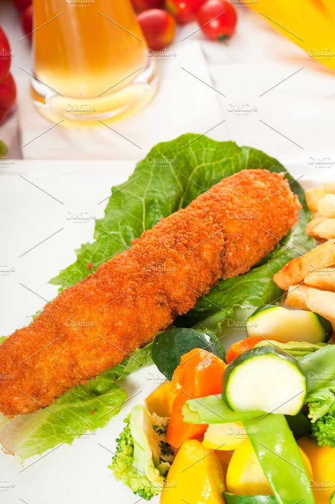 chicken breast roll and vegetables 03.jpg - Food & Drink