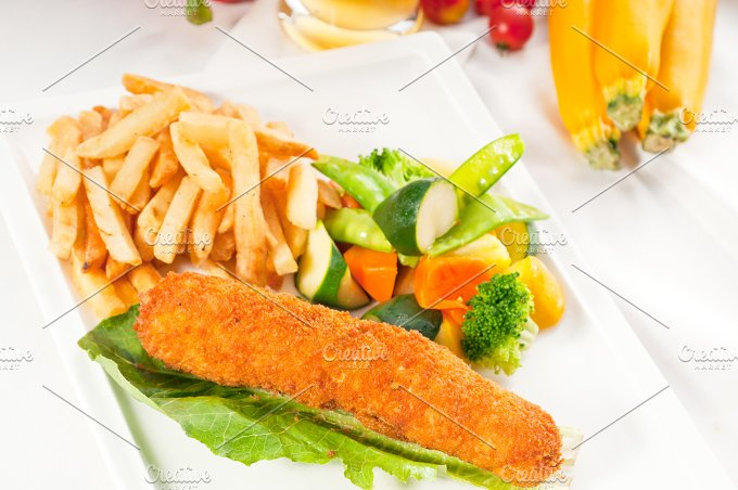 chicken breast roll and vegetables 04.jpg - Food & Drink