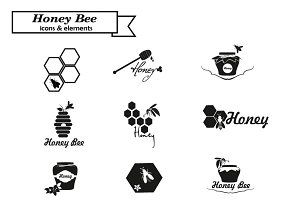 Honey logo and bages