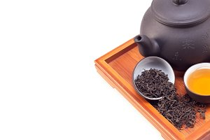 Chinese green tea set on wood tray 01.jpg