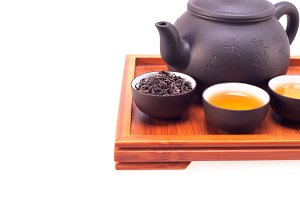 Chinese green tea set on wood tray 03.jpg
