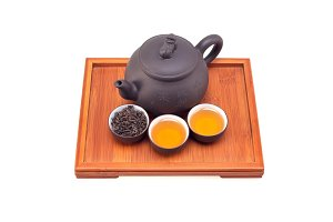 Chinese green tea set on wood tray 04.jpg