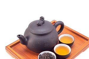 Chinese green tea set on wood tray 06.jpg