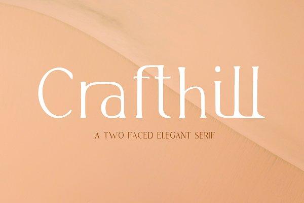 -25% Crafthill. Elegant Serif Font.