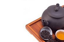 Chinese green tea set on wood tray 09.jpg