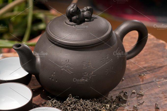 chinese green tea set.jpg - Food & Drink