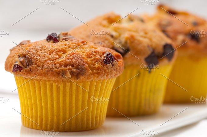 chocolate and raisins muffins dessert cake 09.jpg - Food & Drink