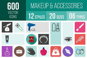 600 Makeup & Accessories Icons