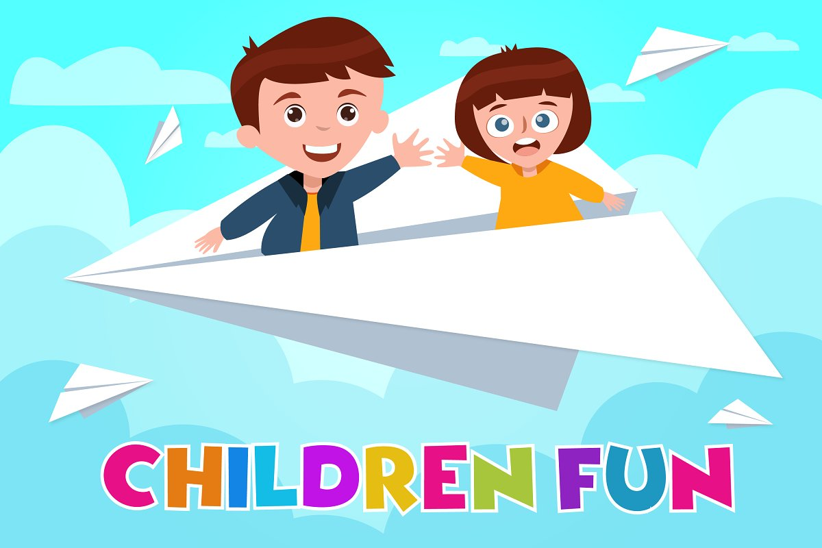Children Fun Day Illustration in Illustrations - product preview 8