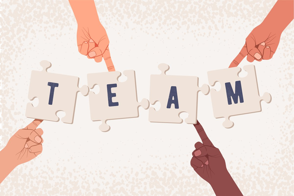 Team building or team work concept. in Illustrations - product preview 8