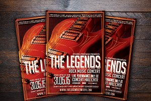 The Legends Music Concert Flyer