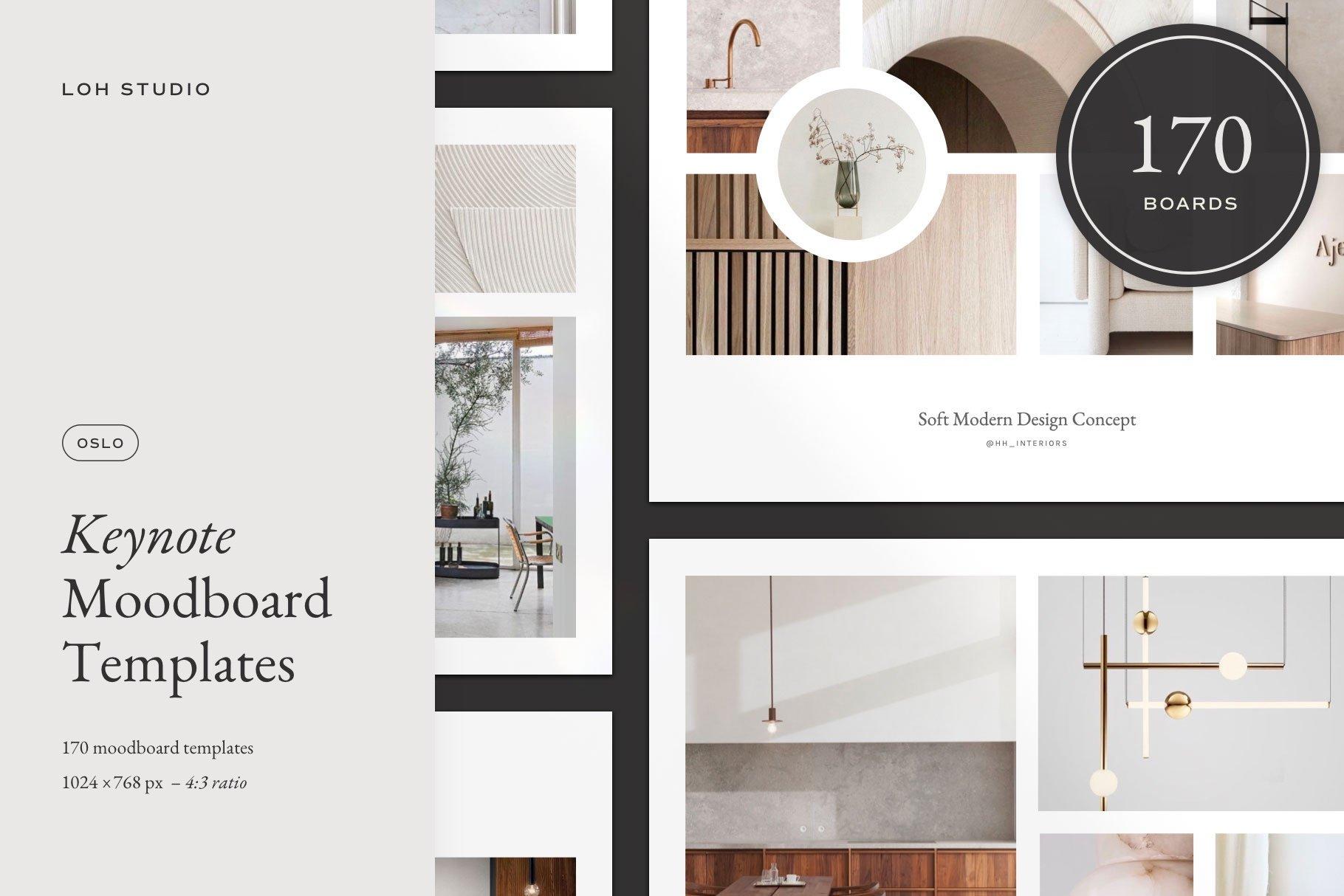 Oslo Moodboard Kit For Keynote Creative Branding Mockups Creative Market