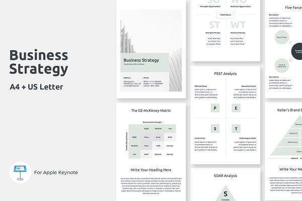 A4 Business Strategy Keynote