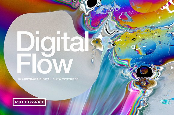 Digital Flow: 18 Abstract Textures in Textures - product preview 13