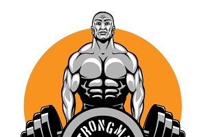 T-shirt design for bodybuilders club