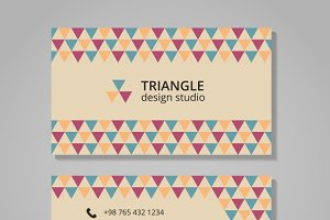 Triangular background business card