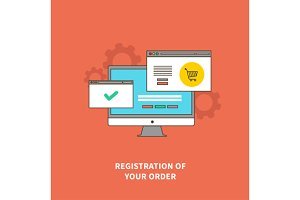 Concept Online Shopping, Registratio