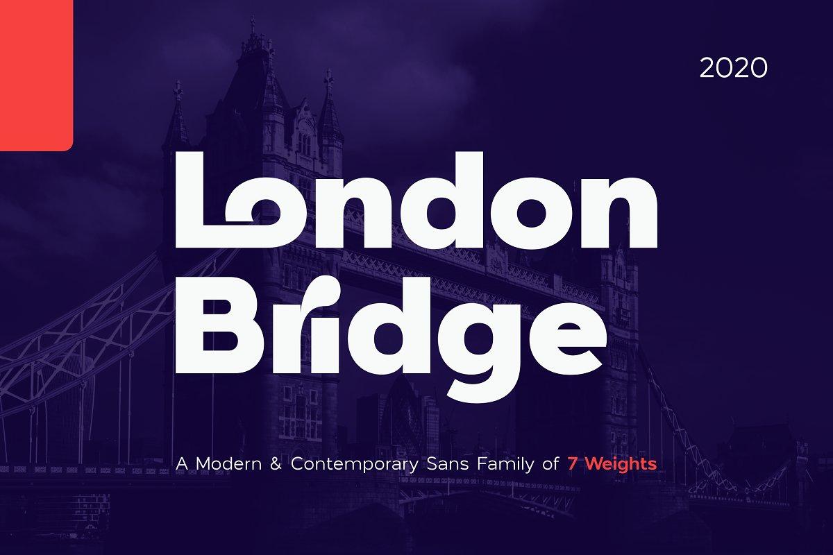 London Bridge - Modern Sans Family in Sans-Serif Fonts - product preview 8