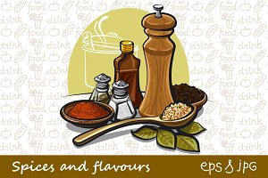 Spices and flavours Illustrations