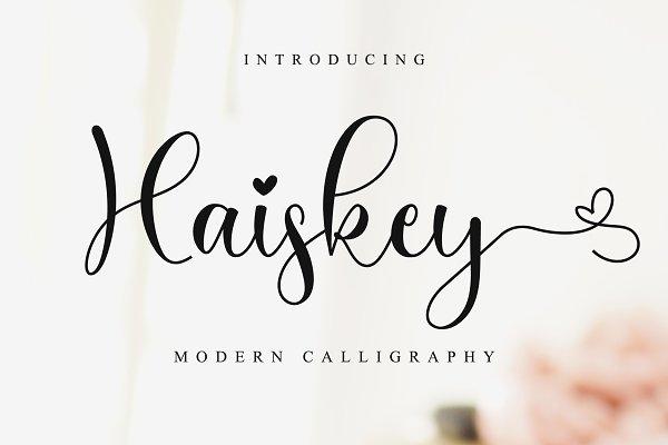 Haiskey // Lovely Script Font
