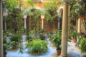 Beautiful courtyard in Seville