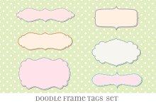 Retro Label Frames Brushes Set No 27