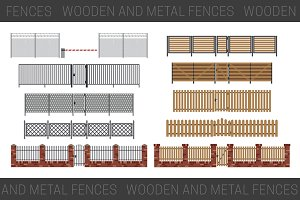 Fences with gates