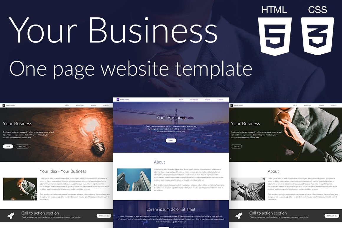Your business website template htmlcss themes creative market wajeb Choice Image