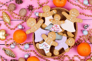 Homemade Christmas gingerbread