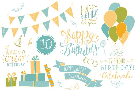 Completely Satisfied Birthday Wallpapers: Birthday Photoshop Overlays