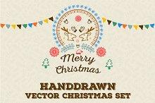 Hand-drawn Christmas Vector Goodies