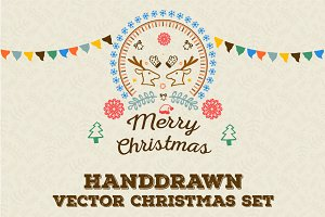 Hand-drawn Christmas Vector Goodies