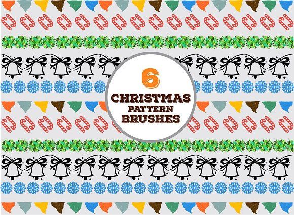 Hand-drawn Christmas Vector Goodies in Patterns - product preview 2