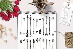 Hand Drawn Arrows graphics / clipart