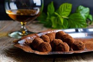 chocolate truffle cognac