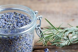 Healthy lavender tea
