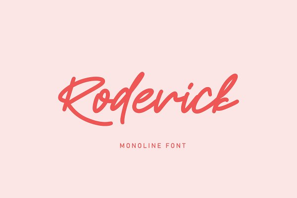 Roderick | Monoline Font