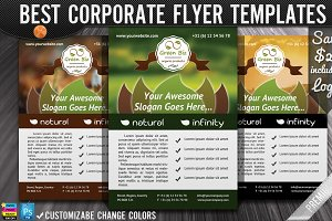 Nature Organic Products Green Flyers