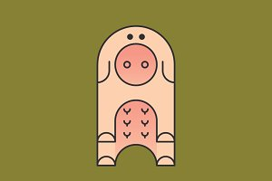 Simply Animals / Pig