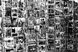 black and white postcards of paris