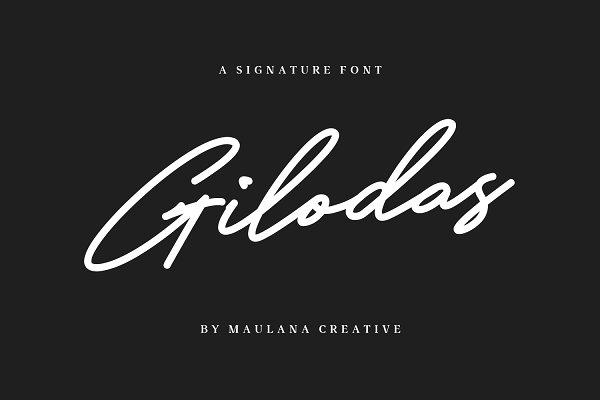 Gilodas Signature Font