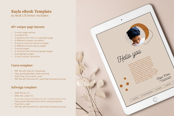 eBook / CANVA, INDD / Kayla in Magazine Templates - product preview 16