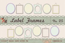 Retro Label Frames Brushes Set No 25