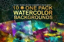 Space watercolor backgrounds + BONUS