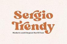 Sergio Trendy - Modern Serif Font