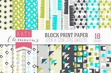 Block Print Papers