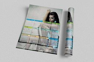 Calendar 2016 Template v2 - A3