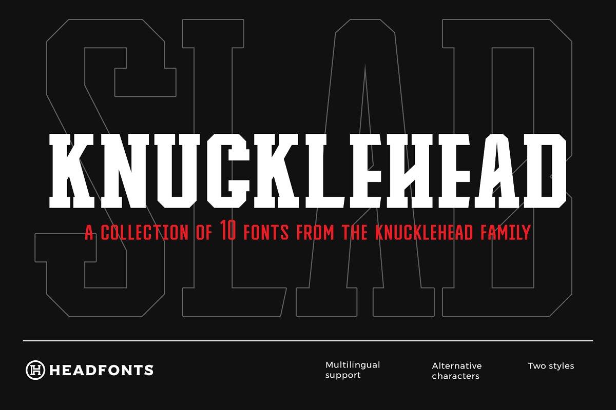 Knucklehead Slab | Sport Font