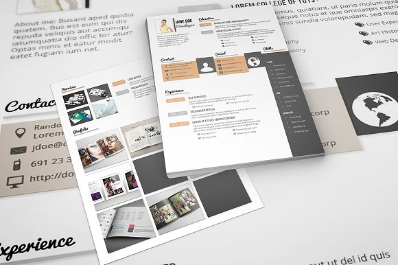 CV / Resume Template - A4 & US