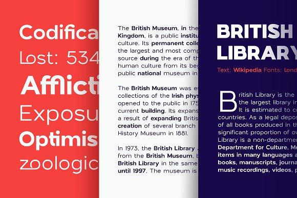 London Bridge - Modern Sans Family in Sans-Serif Fonts - product preview 14